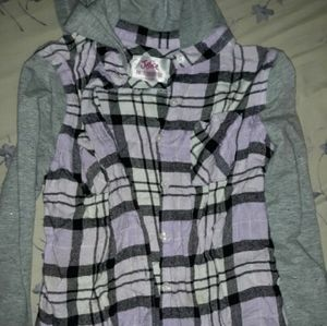 Justice flannel long sleeve